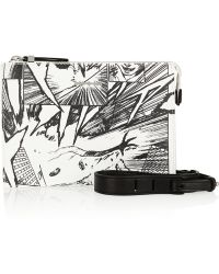 McQ by Alexander McQueen Manga Printed Leather Shoulder Bag - Lyst
