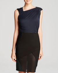 Yigal Azrouel Top  Draped Jersey - Lyst