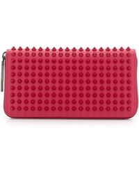 Christian Louboutin Panettone Spiked Zip Wallet - Lyst