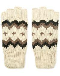 Forever 21 Chevron-patterned Fingerless Gloves - Brown