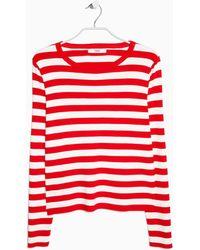 Mango Fine-Knit Striped Sweater - Lyst