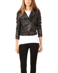 A.L.C. Blake Studded Leather Jacket - Black