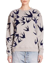 McQ by Alexander McQueen Swallow Sweatshirt gray - Lyst