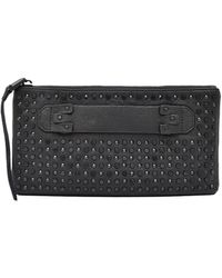 She + Lo - Studded Leather Clutch - Lyst