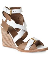Hermès HermãˆS Wedge Sandals - Lyst
