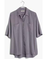 Madewell Silk Courier Shirt - Lyst