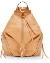 Rebecca Minkoff Julian Backpack beige - Lyst