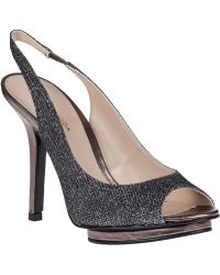 Pelle Moda Rivka Evening Pump Pewter Fabric - Lyst