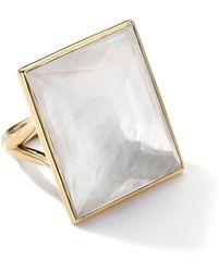 Ippolita - 18k Gold Gelato Medium Mother-of-pearl Baguette Ring - Lyst
