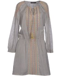 Antik Batik Short Dress gray - Lyst