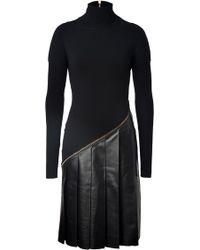 Vionnet Woolleather Sweater Dress - Lyst