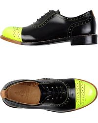 The Office Of Angela Scott Lace-up Shoes - Black