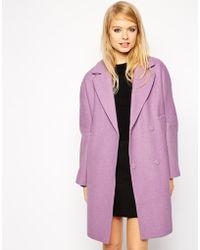 Asos Coat With Drop Shoulder - Lyst