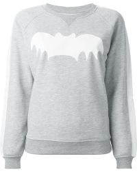 Zoe Karssen Bat-Print Cotton-Blend Sweatshirt - Lyst