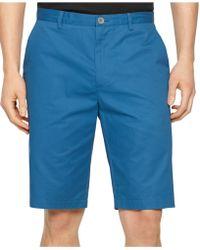 Calvin Klein Chino Walking Shorts blue - Lyst