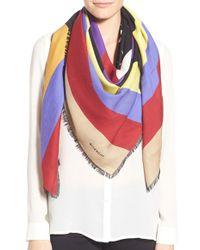 Givenchy | 'american Flag' Wool & Silk Scarf | Lyst