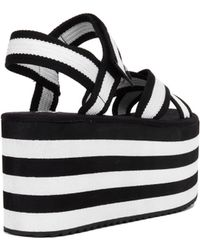 YRU Prizm Flatform Sandals - Black