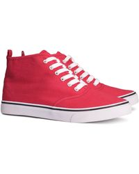 H&M Red Sneakers - Lyst
