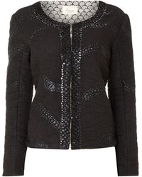 Linea Weekend - Embelished Trim Jacket - Lyst