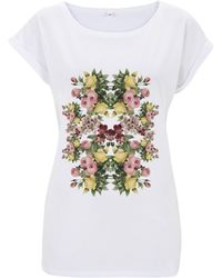 Ultra Tee - Rolled Sleeve Tunic Flowers - Lyst