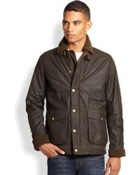 Barbour Catrick Waxed Cotton Jacket - Lyst
