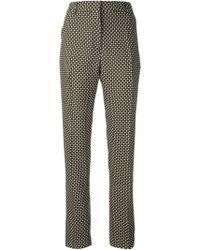 Jonathan Saunders Checkered Straight Leg Trousers - Lyst