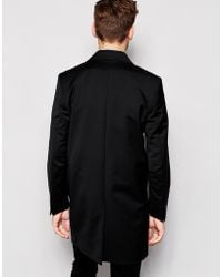 SELECTED Selected Overcoat With Stretch - Black