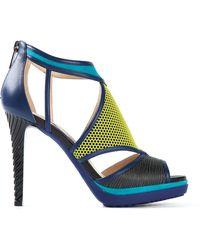 Jimmy Choo Blue 'Lythe' Sandals - Lyst