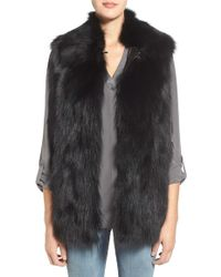Rebecca Minkoff 'ace' Genuine Rabbit Fur Vest - Black