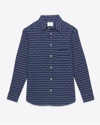Billy Reid Miller Shirt blue - Lyst