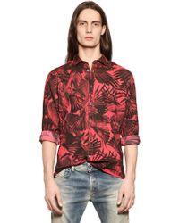 Diesel Raven Wing Printed Cotton Poplin Shirt - Lyst