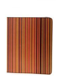 Paul Smith Stripe Print Ipad Case - Multicolour
