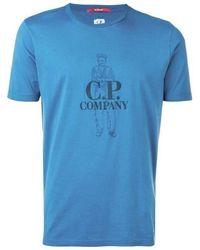 C.P. Company Logo Print T-shirt - Blue