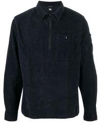 C.P. Company Long-sleeve Zip-neck Polo Shirt - Black