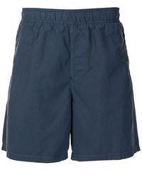 Stone Island Embroidered Marina Bermuda Shorts - Blue