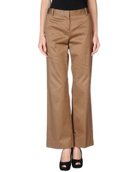 Celine Brown Casual Trouser - Lyst