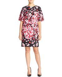Eliza J | Floral Scuba Shift Dress | Lyst