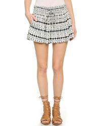 Ella Moss Cortez Mini Shorts - Black - Lyst