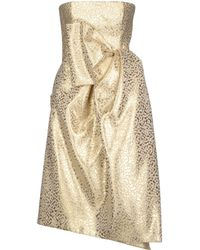 DSquared2 Gold Short Dress - Lyst