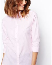 Asos Asos Stripe Fitted Shirt in and White Stripe - Lyst