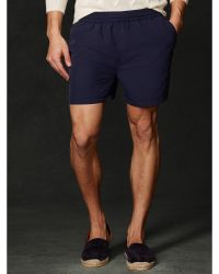 Ralph Lauren Purple Label 5 Solid Swim Trunk - Lyst