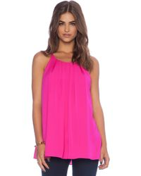 Milly Pleated Tank - Lyst