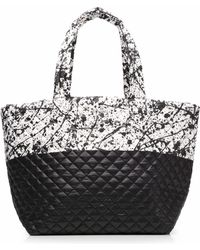 MZ Wallace - Black Paint Colorblock Large Metro Tote - Lyst