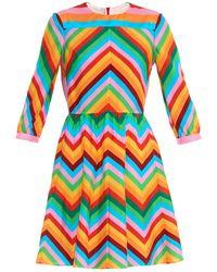 Valentino 1973 Rainbow Silk Dress - Lyst