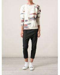 Etoile Isabel Marant Woven Print Sweatshirt - Lyst