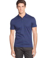 Calvin Klein Heather Auto Stripe Interlock Polo - A Macys Exclusive - Lyst