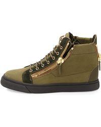 Giuseppe Zanotti Canvas High-Top Sneaker - Lyst
