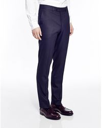 The Idle Man Suit Trousers In Skinny Fit - Navy - Lyst