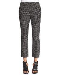 Apiece Apart Cropped Grid-Print Pants - Lyst