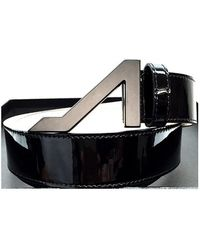 Apolinar - Black Patent Leather Black Matte Buckle - Lyst